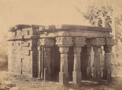 Old temple near the Great Stupa, Sanchi, Bhopal State
